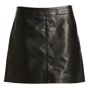 Cupcakes Cashmere Leather Miniskirt Black 0